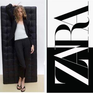 Zara Black One Button Blazer